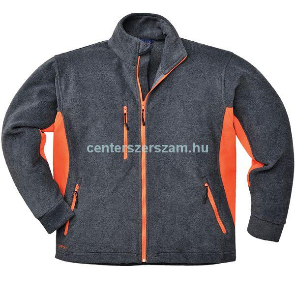Polár kabát szürke-narancssárga TX40  M