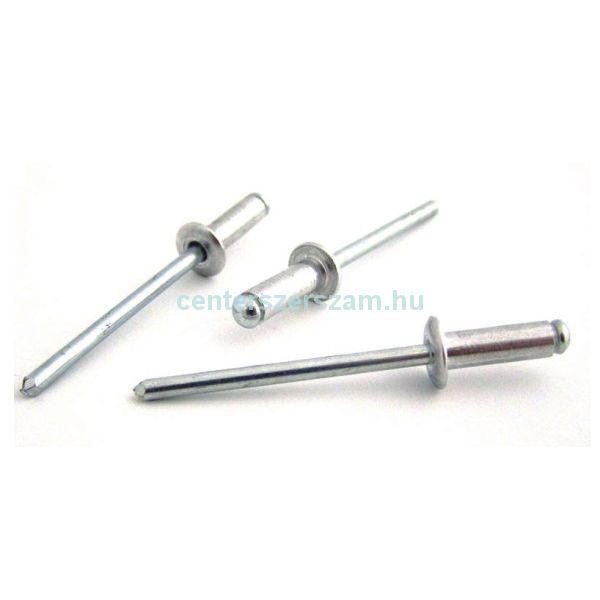 Popszegecs alumínium, nyitott,  4,8 x  8mm