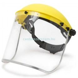 arcvédő pajzs plexi homlokpántos álarc fűkaszás rostély fejvédő arcvédő munkavédelem munkavédelmi ruházat Centerszerszám