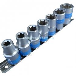 belső torx dugókulcs készlet 1-2 colos, e-star dugó, E, Autószerelő célszerszámok, Yokito, Centerszerszám