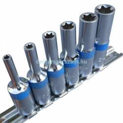 belső torx dugókulcs készlet 3-8 colos, hosszított, e-star dugó, E, Autószerelő célszerszámok, Yokito, Centerszerszám