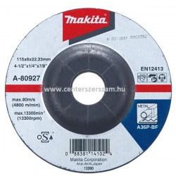 csiszoló tárcsa tisztító korong flexkorong fém inox 125mm 6mm vastag Makita Centerszerszám