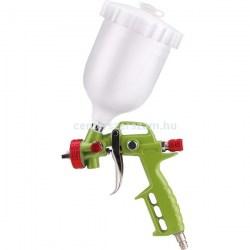 festékszóró pisztoly felső alsó tartályos kompresszorhoz, légkulcs gumi fuvató pisztoy  levegős gépek pneumatikus gépek Extol Barkácsbolt Centerszerszám