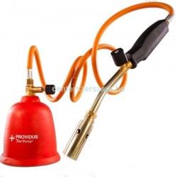 tömlős forrasztó lámpa lágyforrasztás gázlámpa műanyag házas gázforrasztó eldobható 190 gr gázpalack AG384 Providus Centerszerszám