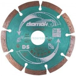 Gyémántvágó korong szegmenses szegmentált vágóél gyémántkorong Profi géptartozékok vágótárcsa 125mm sarokcsiszoló flexkorong Makita Diamak Centerszerszám