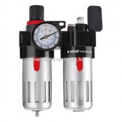 levegő előkészítő kompresszorhoz levegős gépekhez olajzó olajozó nyomásazabályozó Extol Premium Centerszerszám