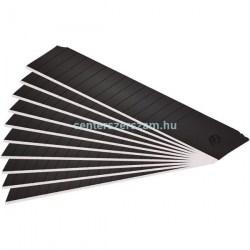 Törhető tapétavágó karbon fekete kés pengék 18mm-es 10 darabos, Kések, Vágóeszközök, Olfa, Fortum, Centerszerszám