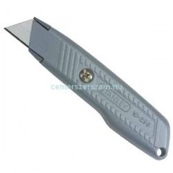 PVC vágó kés öntöltős, alumínium házas, fémházas kések, trapéz pengés kés, tapétavágó kés, visszahúzható pengés kés, penge, üvegkaparó, Stanley 0-10-299  Olfa, Extol, Centerszerszám
