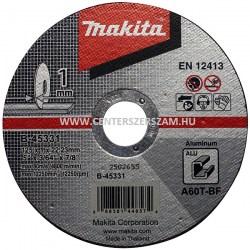 vágótárcsa vágókorong flexkorong ALU alumínium 125mm 1mm vékony Makita Centerszerszám