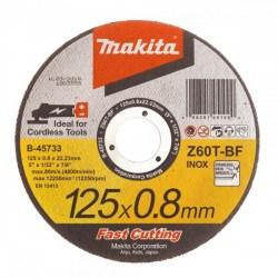 vágótárcsa vágókorong flexkorong fém inox 125mm 0,8mm vékony Makita Centerszerszám