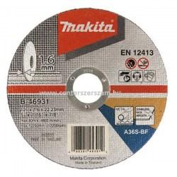 vágótárcsa vágókorong flexkorong fém inox 125mm 1,6mm vékony Makita Centerszerszám