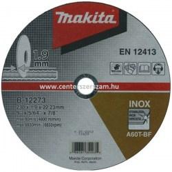 vágótárcsa vágókorong flexkorong fém inox 230mm 1,9mm vékony Makita Centerszerszám